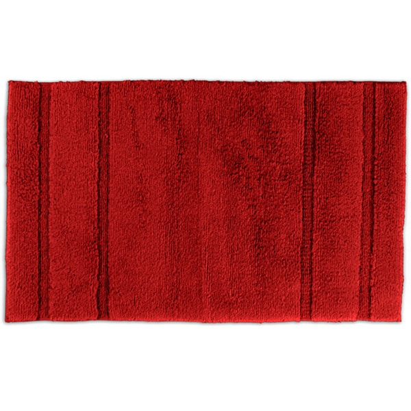 Somette Tranquility Cotton Sunset Red 24x40 Bath Rug