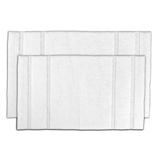 Somette Tranquility Cotton White 2-piece Bath Mat Set