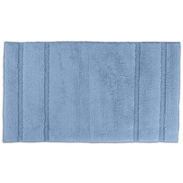 Somette Tranquility Cotton Sky Blue 30 x 50 Bath Rug