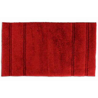 Somette Tranquility Cotton Chili Pepper Red 30 x 50 Bath Rug