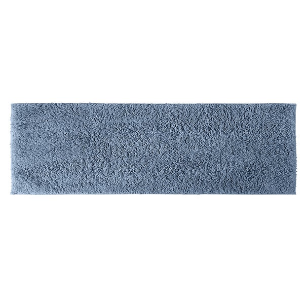 Somette Grace Sky Blue Cotton 22 x 60 Bath Runner
