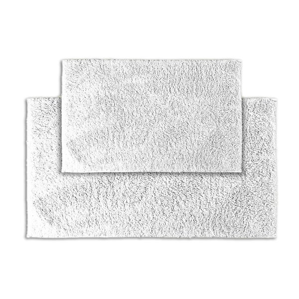 Somette Grace White Cotton 2-piece Bath Rug Set