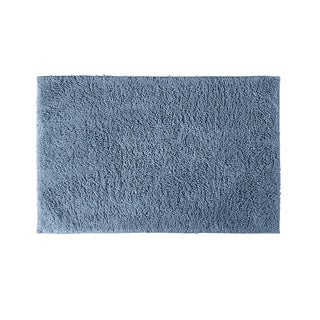 Somette Grace Sky Blue Cotton 30 x 50 Bath Rug