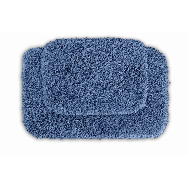 Somette Serenity Basin Blue Bath Rug (Set of 2)