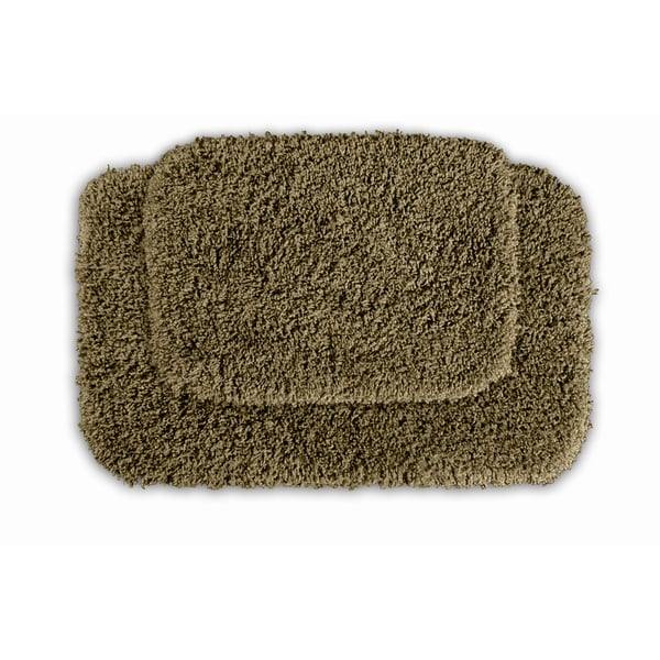 Somette Serenity Taupe Bath Rug (Set of 2)