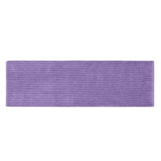 Somette Xavier Stripe Purple 22 x 60 Bath Runner Rug
