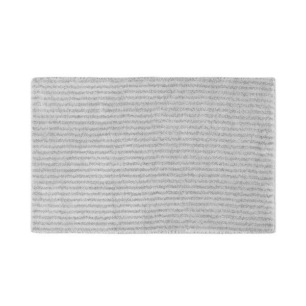 Somette Xavier Stripe Platinum Grey 24x40 Bath Rug