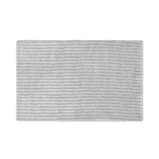 Somette Xavier Stripe Platinum Grey 24x40 Bath Rug