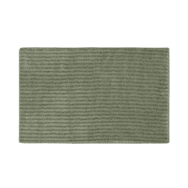 Somette Xavier Stripe Deep Fern 24x40 Bath Rug