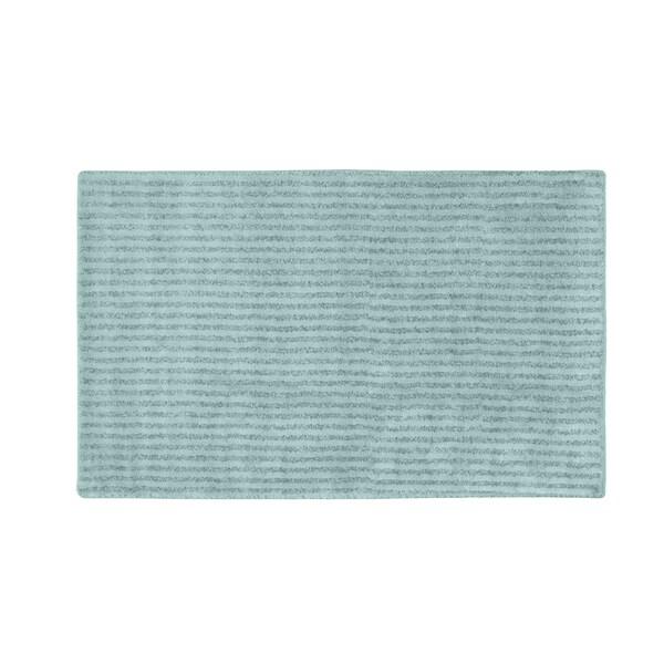 Somette Xavier Stripe Sea Foam 30x50 Bath Rug