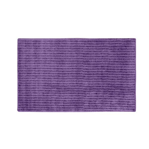 Somette Xavier Stripe Purple 30 x 50 Bath Rug