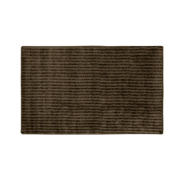 Somette Xavier Stripe Chocolate 30x50 Bath Rug