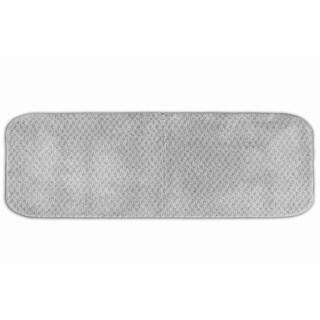 Somette Enliven Textured Platinum Grey Bath Runner