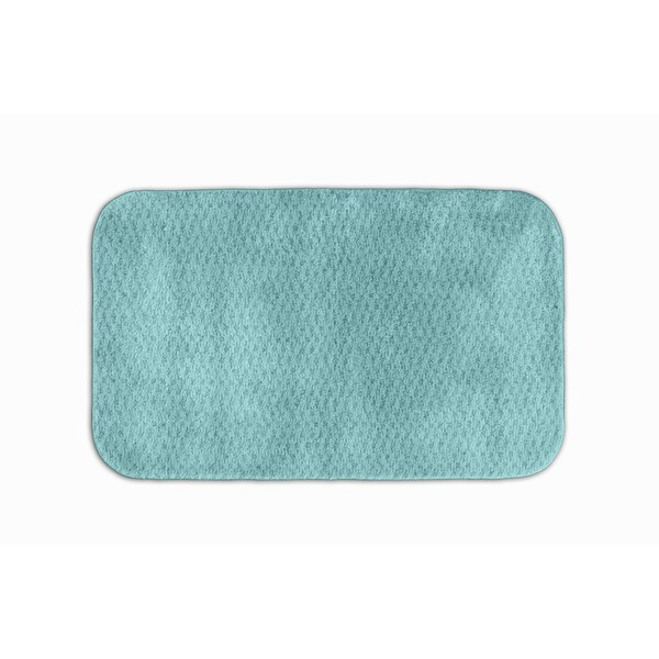 Somette Enliven Textured Seafoam 24x40 Bath Rug
