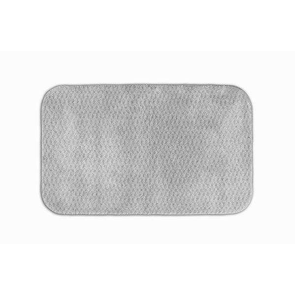 Somette Enliven Textured Platinum Grey 24x40 Bath Rug