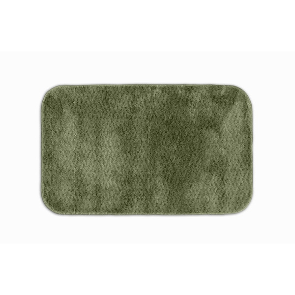 Somette Enliven Textured Deep Fern Green 24x40 Bath Rug