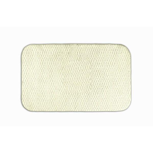 Somette Enliven Textured Ivory 24x40 Bath Rug