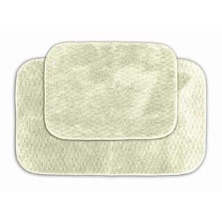 Somette Enliven Textured Ivory 2-piece Bath Rug Set
