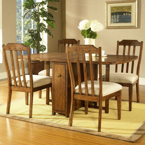 Somerton Dwelling Craftsman 5 Piece Gate Leg Dining Set