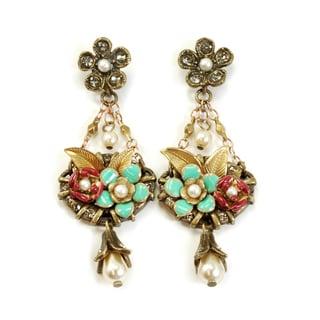 Sweet Romance Baja Flower Garden Earrings