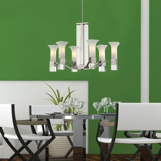Lotus 6-light Chrome Chandelier