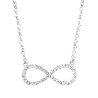Sterling Silver 1/5ct TDW Diamond Infinity Necklace