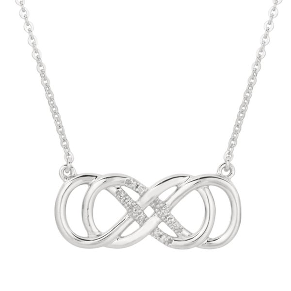 Shop sterling silver diamond accent double infinity necklace free sterling silver diamond accent double infinity necklace aloadofball Gallery