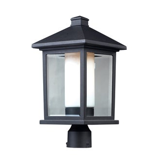 'Mesa' Black Double Glass Outdoor Post Light