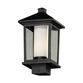 'Mesa' Black Rectangular Outdoor Post Light