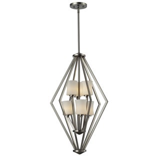 Elite 6-light Brushed Nickel Foyer Light Pendant