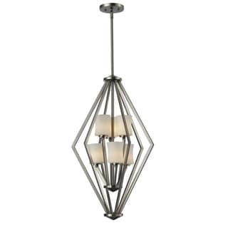 Elite 6-light Brushed Nickel Foyer Light Pendant