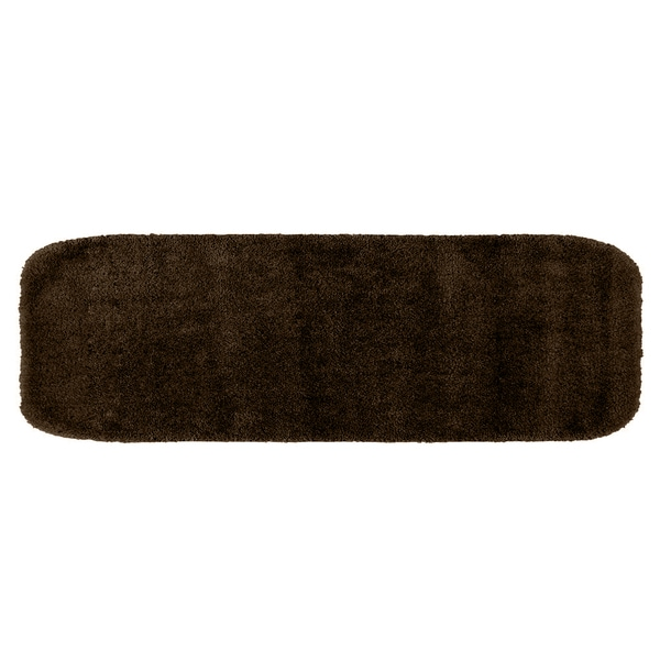 Somette Plush Deluxe Chocolate 24 x 60 Bath Runner Rug