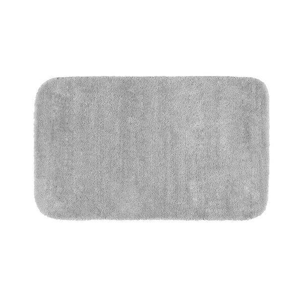 Somette Plush Deluxe Platinum Gray 24 x 40 Bath Rug