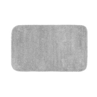 Somette Plush Deluxe Platinum Gray 24 x 40 Bath Rug
