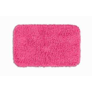 Somette Quincy Super Shaggy Pink Washable 24x40 Bath Rug