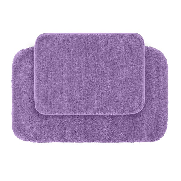 Plush Bathroom Rug Sets: Shop Somette Plush Deluxe Purple 2-piece Bath Rug Set