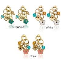 Little Miss Twin Stars Goldplated Children's Enamel and Crystal Earrings