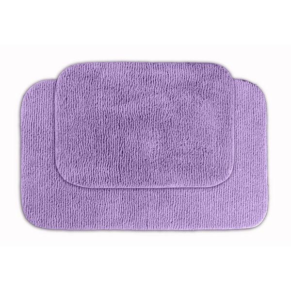 Purple Bathroom Mat Sets: Shop Somette Cheltenham Purple 2-piece Bath Rug Set