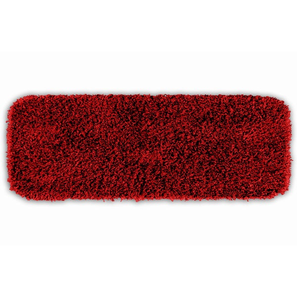 Somette Quincy Super Shaggy Chili Red Pepper Washable Bath Runner