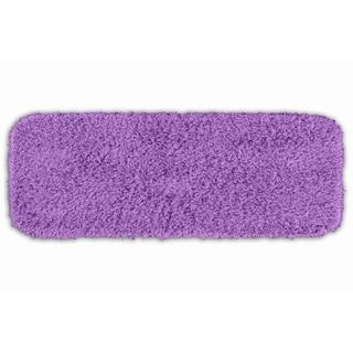 Somette Quincy Super Shaggy Purple 22 x 60 Bath Runner