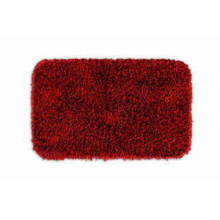 Somette Quincy Super Shaggy Red Hot Washable 22x40 Bath Rug