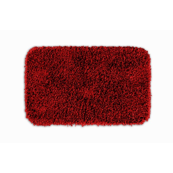 somette quincy super shaggy red hot washable x bath rug  free, Home design