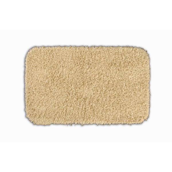 Somette Quincy Super Shaggy Sand Washable 24 x 40 Bath Rug