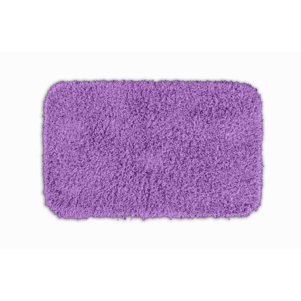 Shop Somette Quincy Super Shaggy Purple Washable 24x40