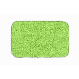 Somette Quincy Super Shaggy Lime Green Washable 24x40 Bath Rug