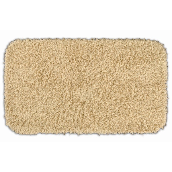 Somette Quincy Super Shaggy Sand 30x50 Bath Rug