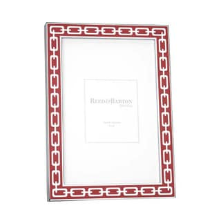 Red Poppy and Silver Link Picture Frame (4 x 6)