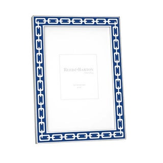 Navy and Silver Link Picture Frame (4 x 6)