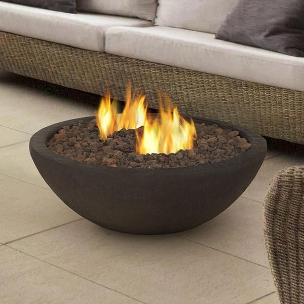 Real Flame Kodiak Brown Hampton Fire Bowl