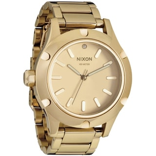 Nixon Women's 'Camden A343' All Goldtone Watch